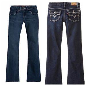 Levi's Girls' Big 715 Bootcut Thick Stitch Jeans